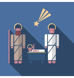 nativity scenein modern flat style vector image vector image