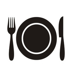 Restaurant menu icon vector image vector image