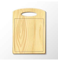 Wooden cutting board vector image
