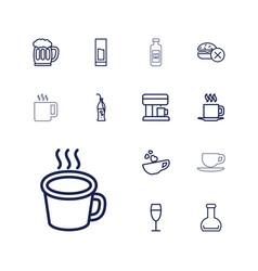 13 beverage icons vector