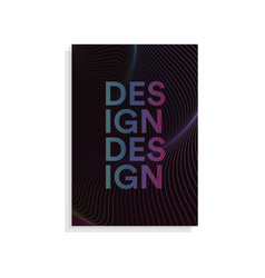 abstract brochure cover design template with wavy vector image