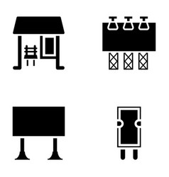 Advertisement glyph icons vector