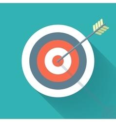 Aiming concept the arrow in bulls eye vector