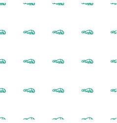 Alligator icon pattern seamless white background vector