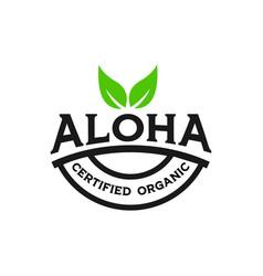 Aloha green organic logo design vector
