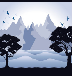 background of mountains vector image