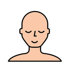 Bald man face cartoon vector