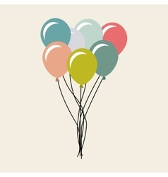 balloons air party celebration vector image