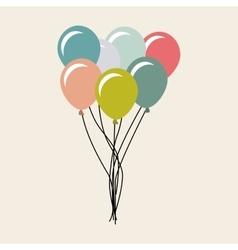 Balloons air party celebration vector