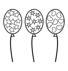 Balloons icon outline style vector image