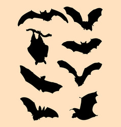 bats silhouette vector image