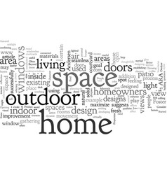 Beyond box outdoor spaces can extend the vector