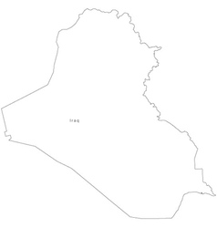 Black White Iraq Outline Map Royalty Free Vector Image