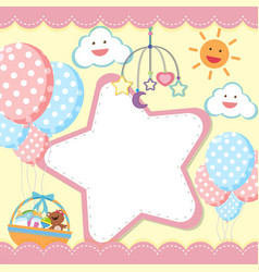 Border template with kids theme vector