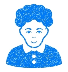 Brunette Woman Grainy Texture Icon vector