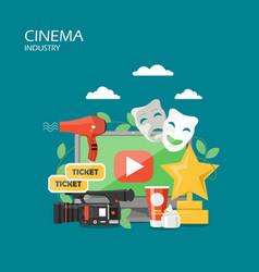 cinema industry flat style design vector image