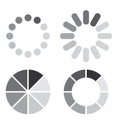 Collection of simple web preloaders in grayscale vector image