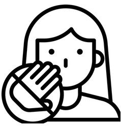 Do not touch your face line style icon vector