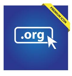 Domain org icon top-level internet domain vector