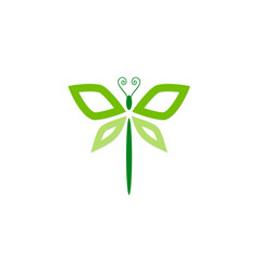 dragonfly abstract beauty logo vector image