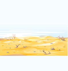 Drought ondesert shrubs nalure vector