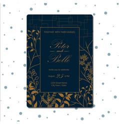 elegant rustic floral wedding invitation vector image