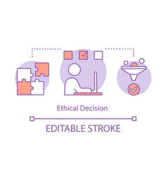 Ethical decision concept icon vector