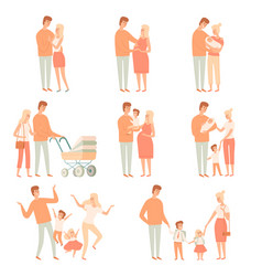 family partners relationship happy parents mother vector image