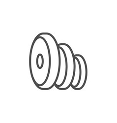 Fitness plates line outline icon vector