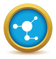 Gold atom icon vector image