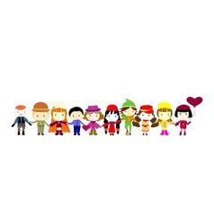 group of children vector image