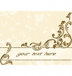 grungy vintage sepia banner horizontal vector image