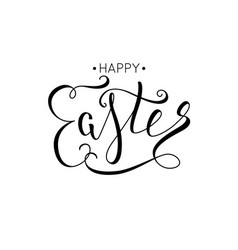 hand drawn elegant modern brush lettering of happy vector image