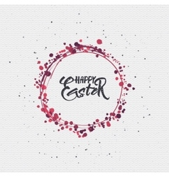 Happy easter - calligraphy typography badge It can vector