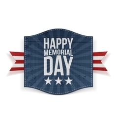 Happy Memorial Day Holiday Banner vector image