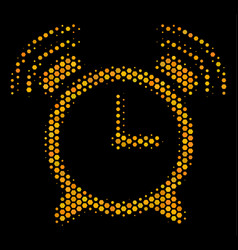 Hexagon halftone buzzer icon vector