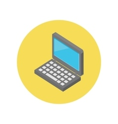 Laptop Isometric Icon Design Flat vector