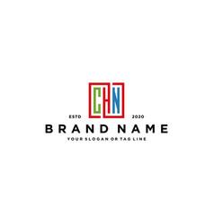 Letter chn square colorful logo design vector