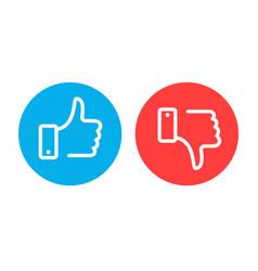 like and dislike symbols vector image