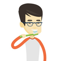 Man brushing his teeth vector