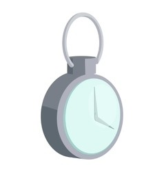 Mechanical pocket watch icon cartoon style vector