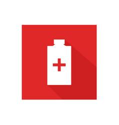 medical bottle icon vector image