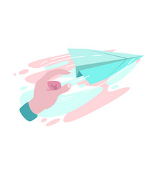 messaging with paper plane vector image