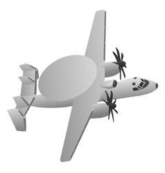 military early warning radar aircraft vector image