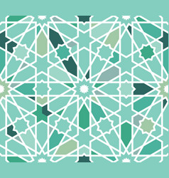 Moroccan islamic style geometric tile pattern vector