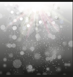 night black background with sparkles and rays vector image