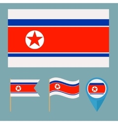North Koreacountry flag vector image