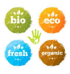 organic eco food creative rough design concept vector image vector image