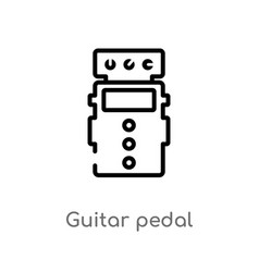 Outline guitar pedal icon isolated black simple vector