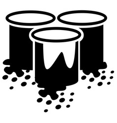 paint bucket icon vector image
